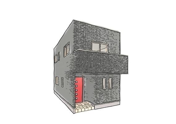 「箱」のようなフラットな屋根とシンプルで直線的なスタイル