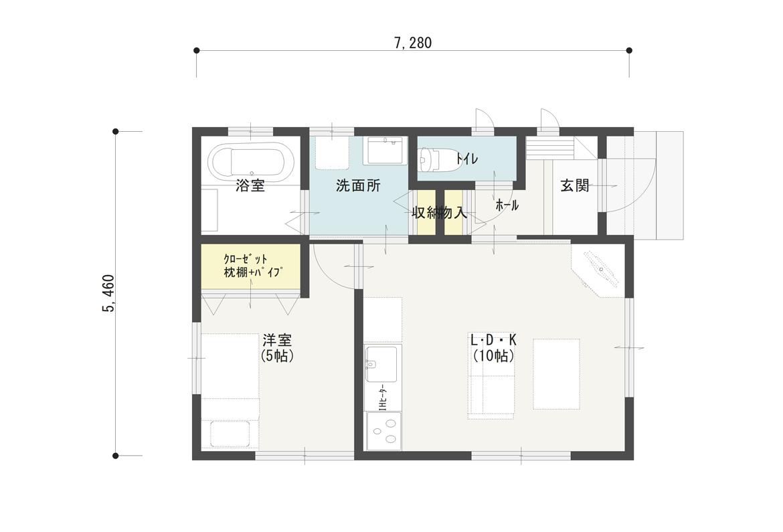 狭小住宅12坪プラン(PLAN-01)間取り