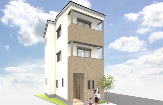 狭小3階建て力合近見モデルハウス